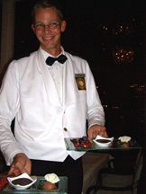 Victoria Jungfrau Collection - La Terrasse - Jochen with desserts