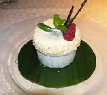 Lanes Restaurant iced coconut souffle