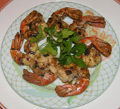 Martinique Sofitel Bakoua Restaurant Le Chateaubriand - grilled shrimp