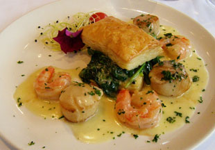 Shrimp and Scallops at Restaurant Le Graffiti, Quebec, Canada - Photo by Luxury Experience