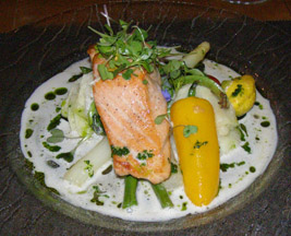 Auberge Le Saint-Gabriel Dining Room, Montreal, Canada - Salmon - Photo by Luxury Experience