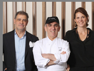 Gianfranco Sorrentino, Chef Vito Gnazzo, Paula Bolla-Sorrentino  - The Leopard at des Artistes, NYC