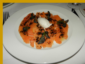 House Smoked Salmon and Caviar Duo - l'escale Restaurant Bar, Greenwich, CT, USA - photo by Luxury Experience