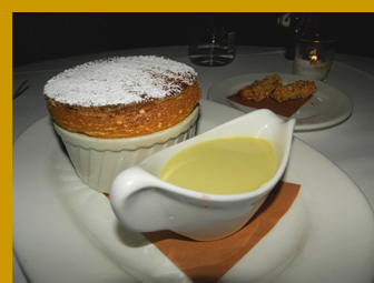 Black & White Chocolate Souffle - l'escale Restaurant Bar, Greenwich, CT, USA - photo by Luxury Experience