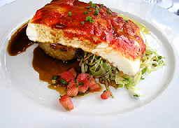Lofoten Fiskerestaurant pimento halibut