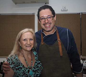 Chef Sylvio Trujillo, Debra C. Argen - photo by Luxury Experience