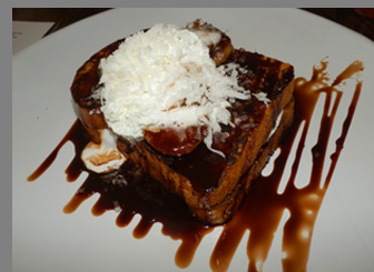 Bananas Foster French Toast - Miro Kitchen - Fairfield, CT - photo by Luxury Experience