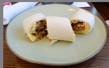 Breakfast Burrito - Miro Kitchen - Fairfield, CT - photo by Luxury Experience