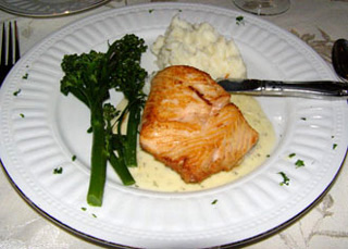 Glazed Salmon - The Notchland Inn, Hart's Location, New Hampshire - Photo by Luxury Experience