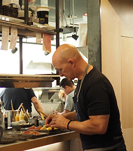 Chef Brian Lewis - OKO kitchen - Photo by Luxury Experience