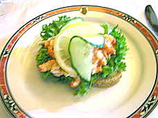 Grand Cafe crayfish sandwich