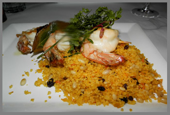 Gamberoni con Couscous - Osteria Salina, Bridgehampton, NY, USA - photo by Luxury Experience