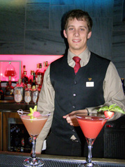 Bartender Thomas at Auberge St-Antoine, Quebec, Canada - Photo by Luxury Experience