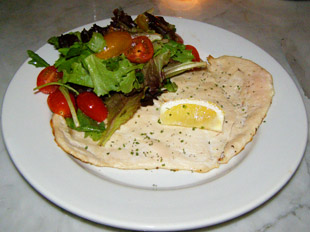 Chicken Paillard  - The Parlour, Roger New York - Photo by Luxury Experience