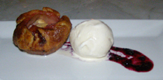 Rhubarb Tart with Ice Cream  - The Parlour, Roger New York - Photo by Luxury Experience