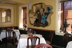 Polpo Restaurant and Saloon cozy dining room