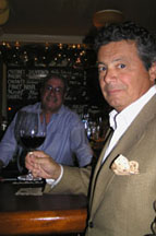 Ron Rosa owner of Polpo Restaurant and Saloon and bartender Marvin Cohen