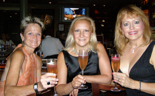 Kay, Debra, and Jan at Spirited Dinner at Ralph's on the Park