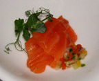 Salmon Amuse Bouche - Rathsallagh House, Dunlavin, Ireland