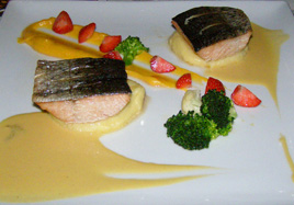 Restaurant 4 - Wild Salmon with Ranga Champagne Sauce- Hotel Ranga, Hella, Iceland - Photo by Luxury Experience