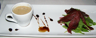 Restaurant 4, Hotel Ranga, Hella, Iceland - Mushroom Cappuccino, Smoked Goose - Photo By Luxury Experience