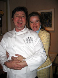 Master Chef Jean-Louis and Linda Gerin of Restaurant JEAN-LOUIS, Greenwich, Connecticut, USA
