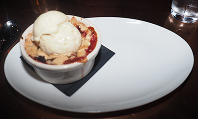 Fruit Oatmeal Cobbler - Revival Kitchen and Bar - Concord, NH - photo by Luxury Experience