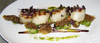 Rive Gauche Restaurant and Bar at the Baur au Lac, Zurich, Switzerland - Scallops
