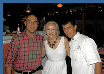 Steven Larios Reynolds, Debra Argen, Chef Roberto Chavez Oviedo - River Cafe, Puerto Vallarta, Mexico - photo by Luxury Experience