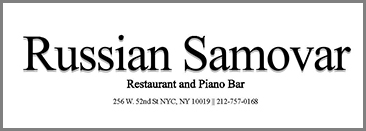 Russian Samovar Restaurant and Piano Bar, NY, NY, USA