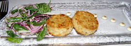 Crab Cakes - The Saddle Room, The Shelbourne Hotel, Dublin, Ireland