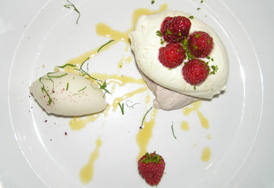 SALT Bar-Restaurant - Copenhagen, Denmark - lemon pavlova with raspberries and macademia nuts
