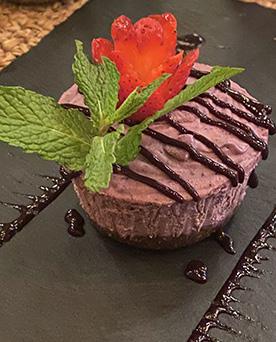 Vegan Cheesecake - Samba Montclair, NJ USA - photo by Luxury Experience
