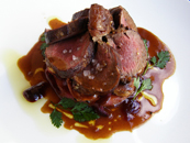 Schokoladen, Berlin, Germany - saddle of venison with red cabbage