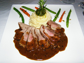 The Secret Garden at The Pillars at New River Sound, Fort Lauderdale, Florida - Duck Breast au Poivre