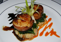 The Secret Garden at The Pillars at New River Sound, Fort Lauderdale, Florida - Sea Scallops