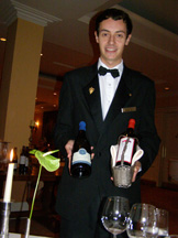 La Cascade, Sheen Falls Lodge, Kenmare, County Kerry, Ireland - Damien Trinkqul serving wine