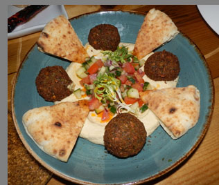 Falafel and Hummus - Sixty 5 on Main - Nyack, NY - photo by Luxury Experience