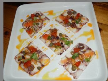 Octopus Carpaccio - Sixty 5 on Main - Nyack, NY - photo by Luxury Experience