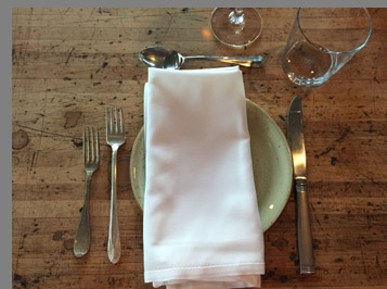 Table setting - Sixty 5 on Main - Nyack, NY - photo by Luxury Experience