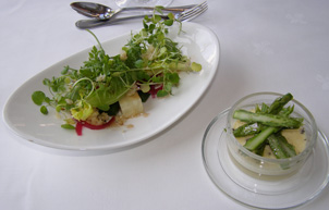 Sofiero Palace Restaurant - Asparagus Brulee and Mixed Salad