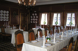 Dining Room at Steensgaard Herregaardspension