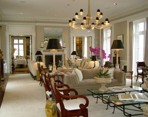 The Living Room at Glenmere Mansion, Chester, New York - Photo by Luxury Experience