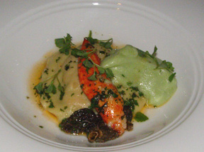 Lobster Ravioli at The Supper Room at Glenmere Mansion, Chester, New York - Photo by Luxury Experience