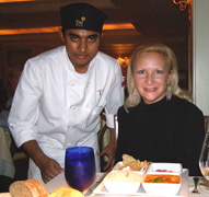 Chef Pradeen Prathapan and Debra C. Argen