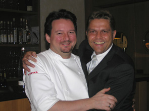 Chef Kolja Kleeberg and Sommelier Henrik Canis of VAU in Berlin, Germany