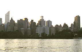 Water's Edge view of New York Skyline