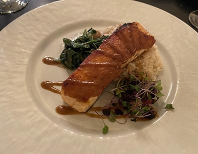 Miso Glazed Salmon - West Street Grill, Litchfield, CT - photo by Luxury Experience