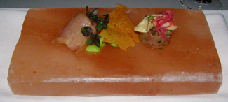 Hamachi Sashimi at The Dining Room at Wheatleigh, Lenox, Massachusetts  - Photo By Luxury Experience
