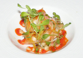 Shrimp  and Julienne Salad at The Dining Room at Wheatleigh, Lenox, Massachusetts  - Photo By Luxury Experience